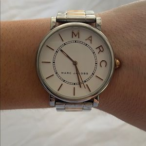Silver and rose gold Marc Jacobs watch